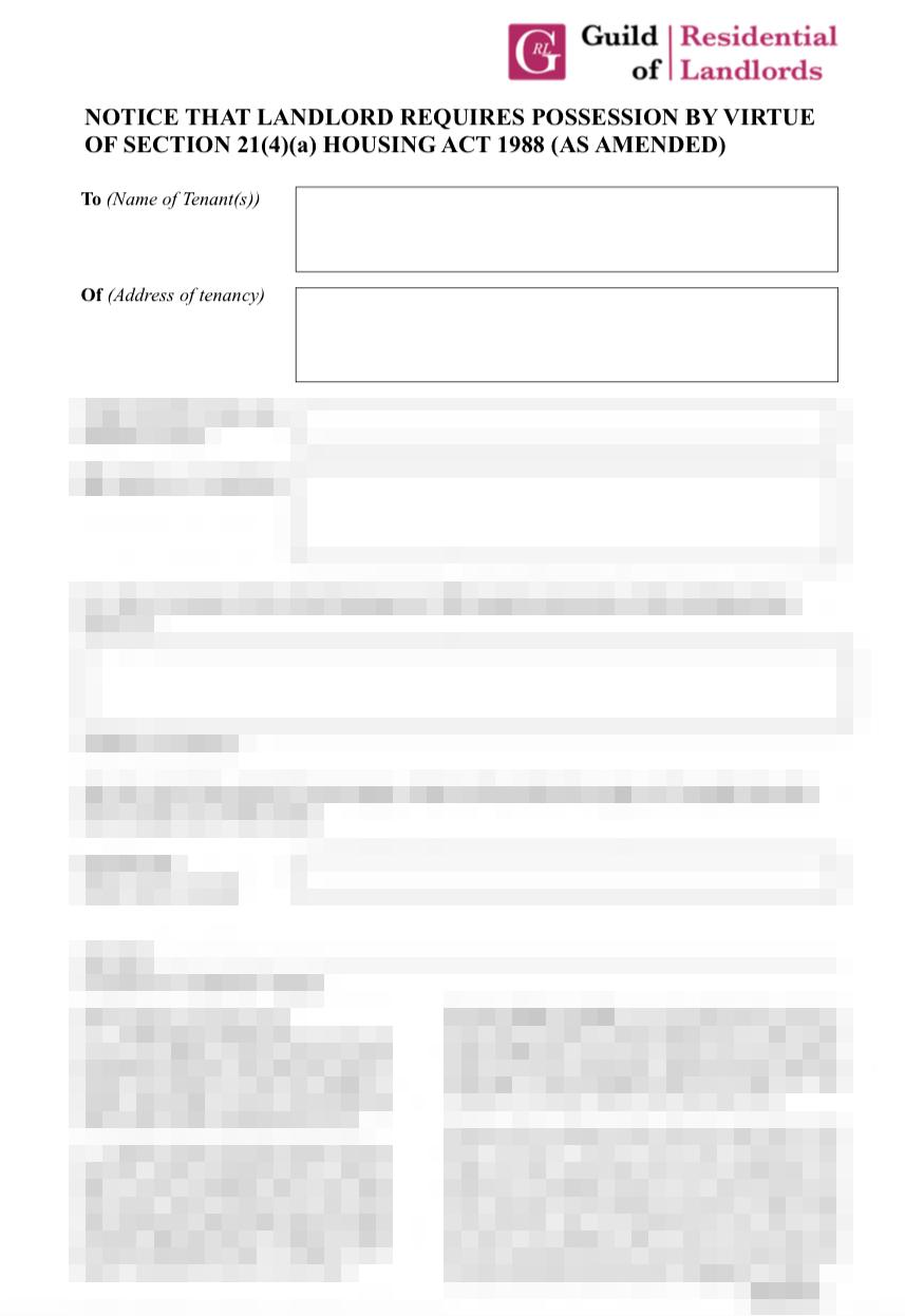 Section 214a Notice Grl Landlord Association