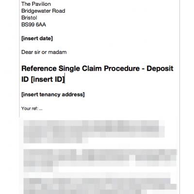 DPS single claim letter