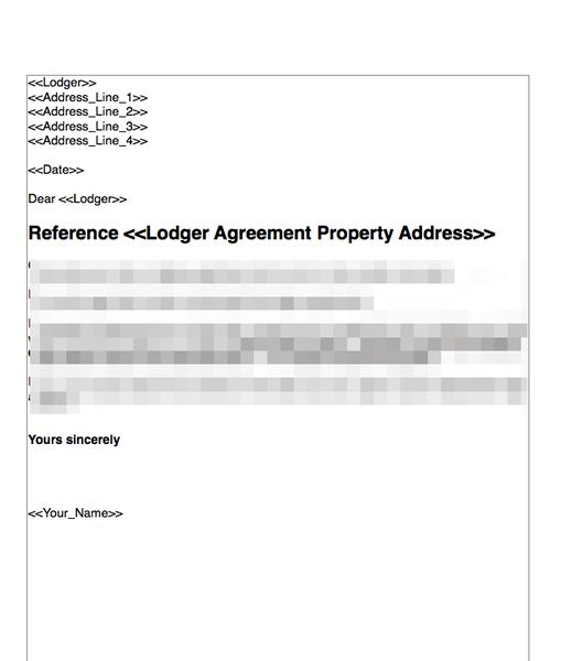 Terminate A Lodger Agreement No Fault Nor Breach Grl Landlord Association