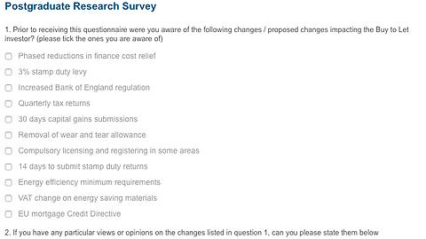 Take A 10-Minute Landlord Tax Survey