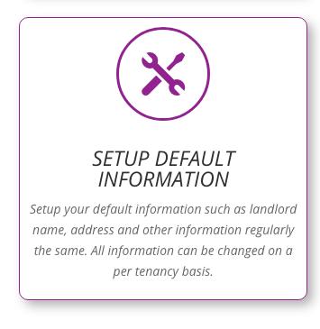 Setup default settings for tenancy builder